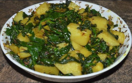 Aloo Palak (Seasonal)